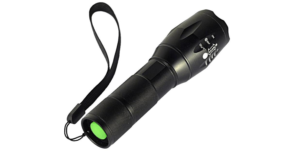 Smuk Ekstraordinær kraftig LED lommelygte og robust LED lommelygte MS-19